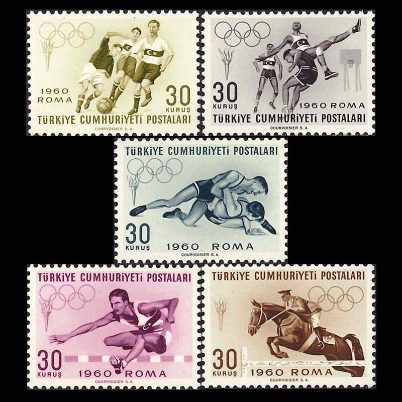 トルコ1960年ローマオリンピック切手5種 | 切手の通販 英国海外郵趣